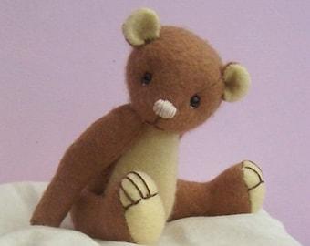 """Hailey 6"""" teddy bear felt soft toy kit.  Makes either rabbit or bear"""
