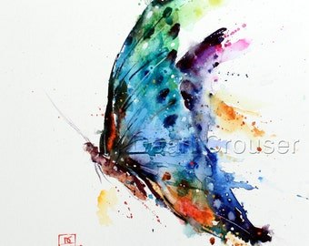 BUTTERFLY Watercolor Art Print, Butterfly Painting,  by Dean Crouser