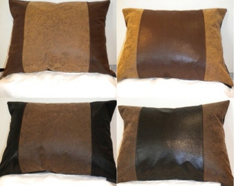 Tooled Stripe Western Pillow Cover 12 X 16