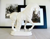 RESERVED FOR ROXANE - Vintage Ming horse statue