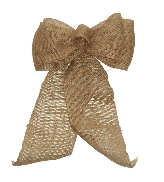 Items Similar To Burlap Pew Bows In A Set Of 4 Burlap Pew Bows Burlap Wedding Decorations