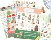 9 Sheets Korea Pretty Sticker Set - Deco Translucent Sticker Set Diary Deco Pack V.3