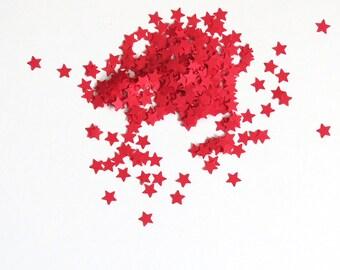Confetti Red Stars 450 Pieces