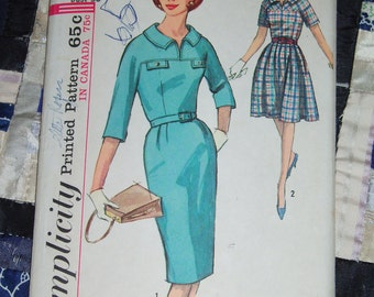 Vintage 1964 Simplicity Pattern 5777 for a Misses Dress Size 16, Bust 36