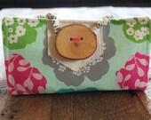 Miss Money Bags 6 envelope cash wallet Aloha Aqua