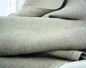 Soft linen fabric -Eco delight- stonewashed linen, natural taupe ecru burlap hemp softened linen, drip-dry linen,Eco-friendly,