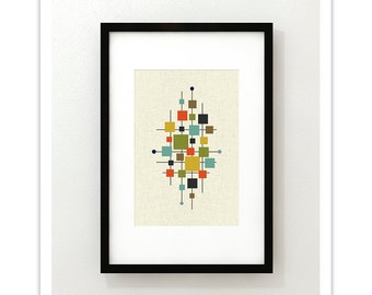 AREA - Mid Century Modern Danish Modern Abstract Eames Curtis Jere Print