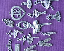 The Ultimate Ballet Charm Collection Antique  Silver Tone The Ultimate 14 Different Charms - COL182
