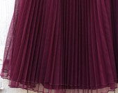 ON SALE French Vintage Mulberry Circle Skirt xs small