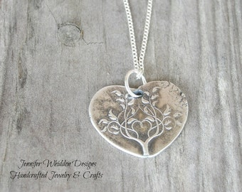 Tree of Life Necklace, Sterling Silver Necklace, Family Necklace, wax Seal Necklace