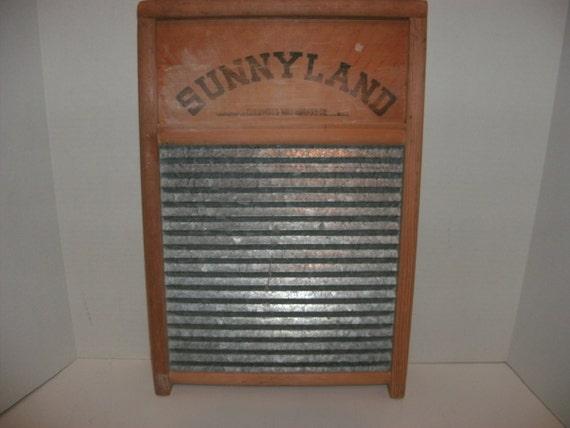 Sunnyland Galvanized Washboard