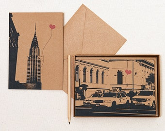 NYC Lover's assorted boxed set of 8 blank note cards