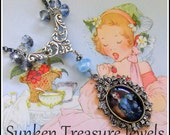 Gainsborough's Classic Blue Boy Glass Cameo Necklace