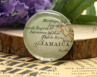 10mm,12mm,14mm,16mm,18mm,20mm,25mm Round Glass Cabochons Jamaica Map,jewelry Cabochons finding beads,Glass Cabochons,Map Cabochons