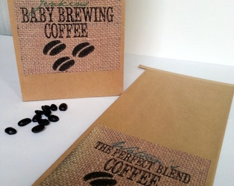 Personalized Coffee Favor Bags