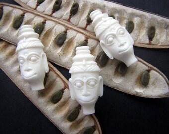 Timor Man Artisan Carved Bone Bead