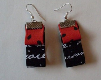 French Connection Fiber Art Earring  LJO Collection Jewelry