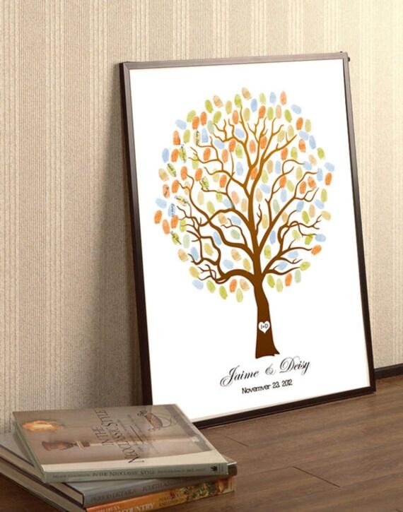 Super Caduta dell'albero di nozze Guestbook impronte digitali TF45