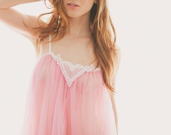 Romantic retro babydoll nightie