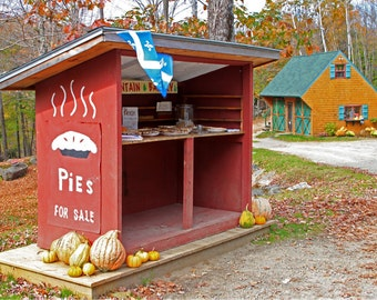 Roadside Stand Selling Whoopie Pies in Maine