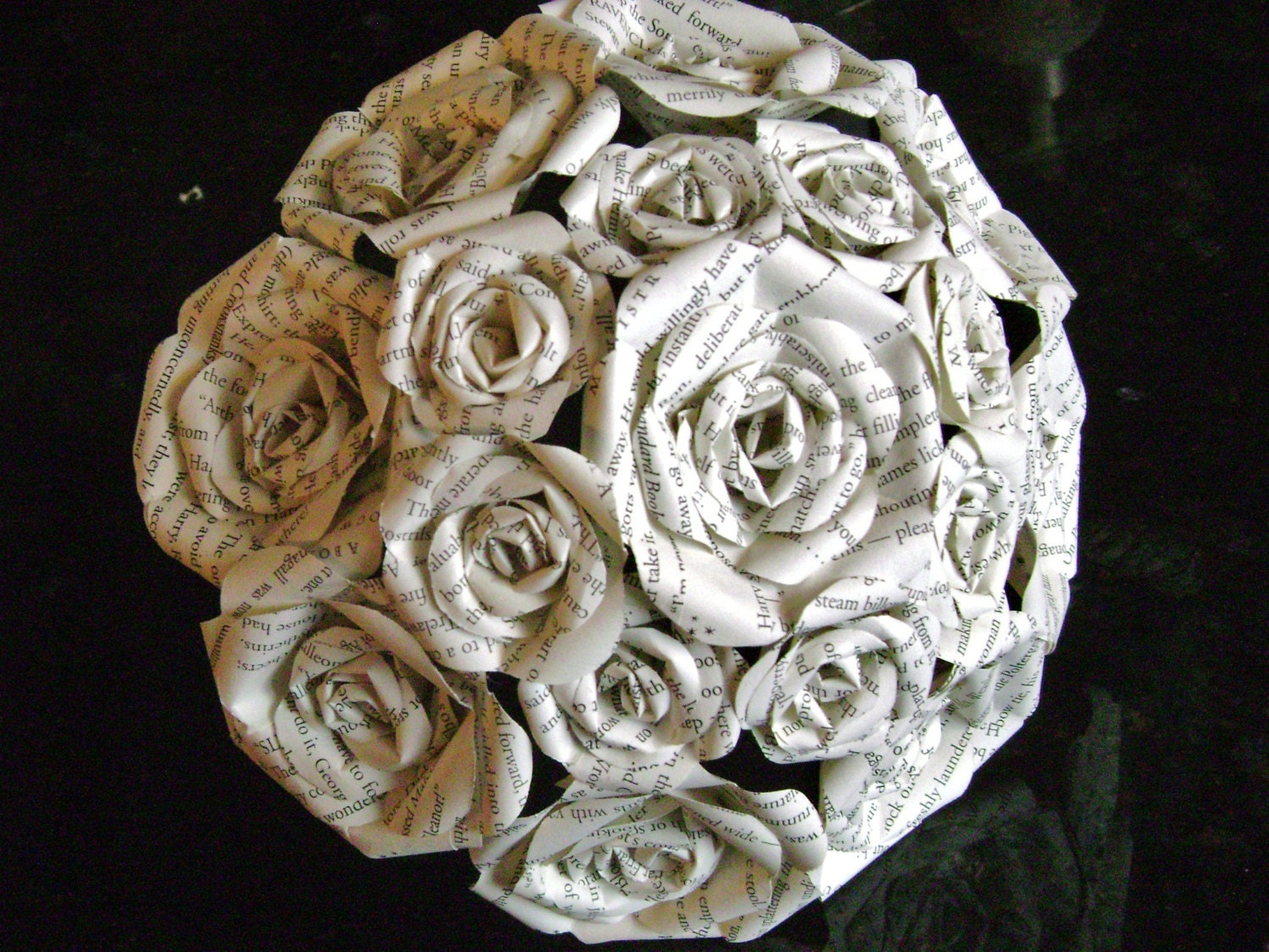 Book page recycled paper rose bouquet alternative wedding zoom dhlflorist Image collections