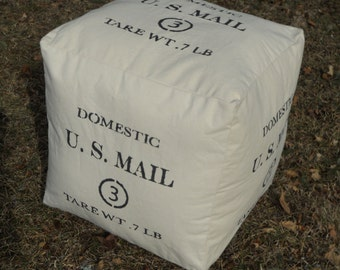 """Pouf - Hassock - Ottoman Domestic US Mail - 3 - Tare Weight - 18"""" X 18"""" - square"""