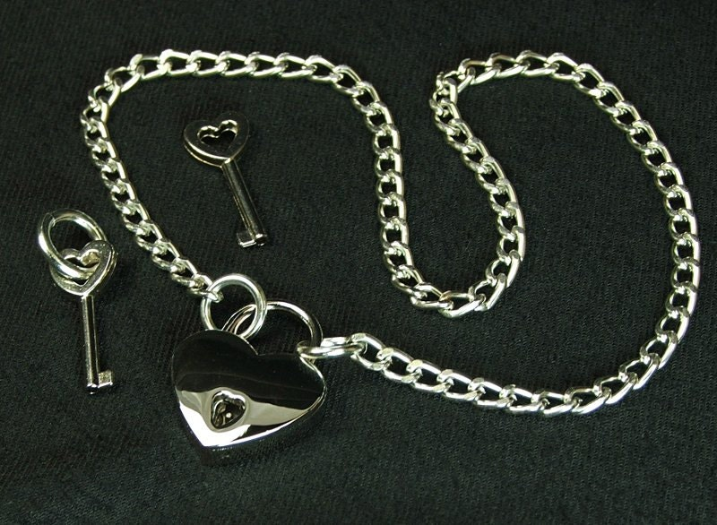 bdsm jewelry submissive jewelry heart lock necklace mature