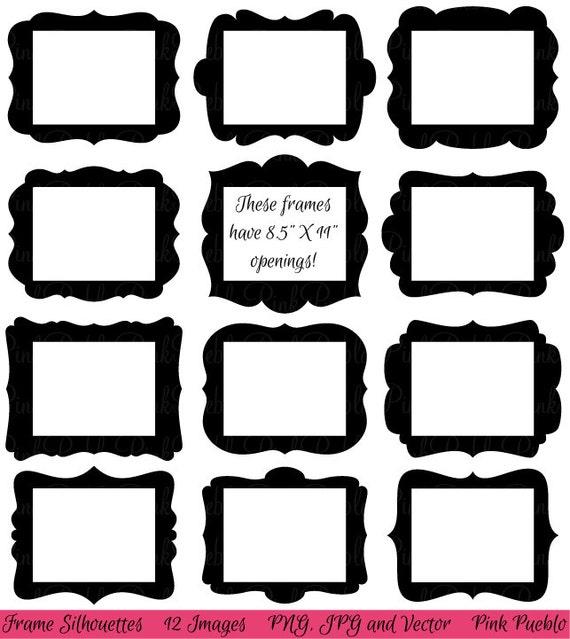 Frames Clip Art Clipart Digital Picture Frames Clipart Clip Etsy