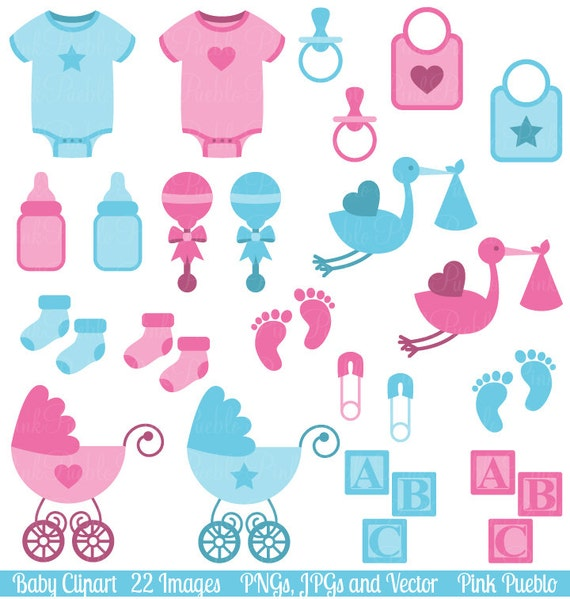 Baby Clip Art Clipart, Boy And Girl Baby Shower Clip Art Clipart    Commercial And Personal