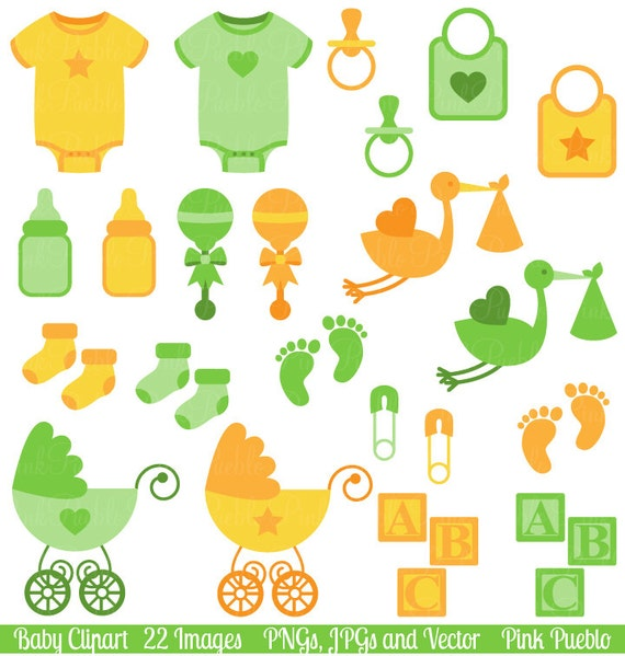baby clip art clipart gender neutral baby shower clip art rh etsy com baby clothes clipart baby items clipart images