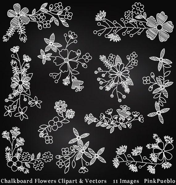 Chalkboard Flowers Clipart Clip Art Chalk Board Clipart