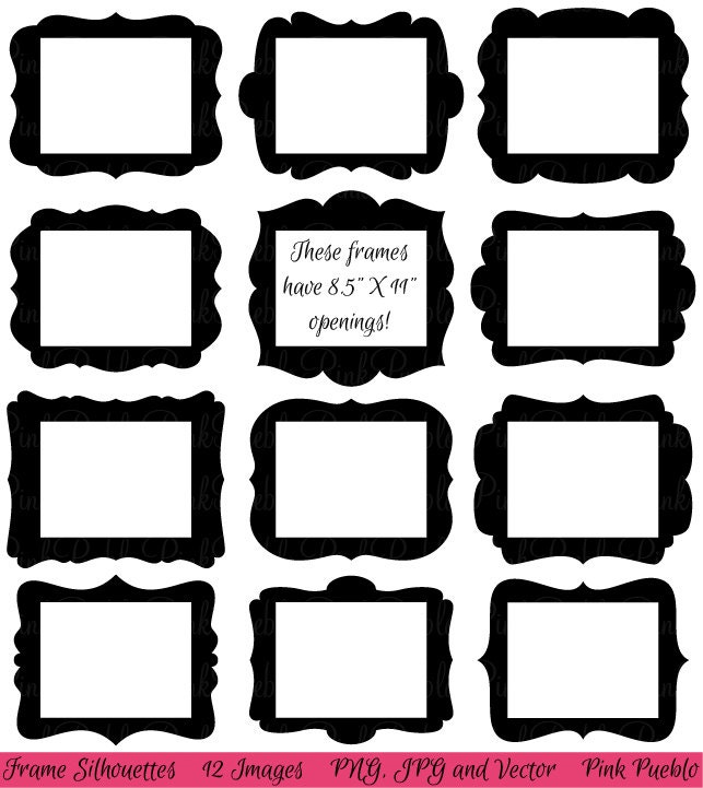Frames Clip art Clipart Digital Picture Frames by PinkPueblo