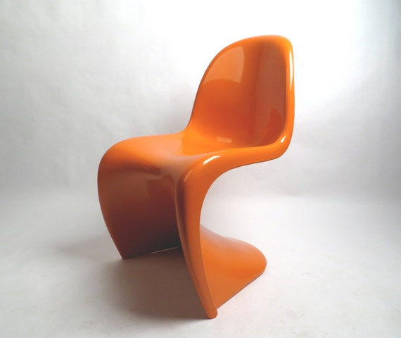 herman miller verner panton original bright orange s chair. Black Bedroom Furniture Sets. Home Design Ideas
