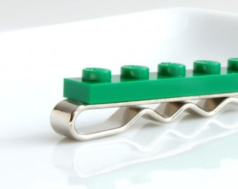 Skinny Tie Bar in Green for Weddings, Fun and Special Occasions - many more colours available