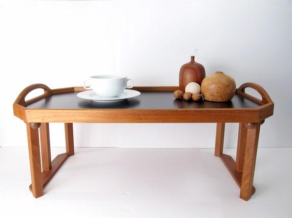 teak breakfast tray detachable legs danish modern serving. Black Bedroom Furniture Sets. Home Design Ideas