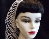 White Rockabilly Snood Hair Net
