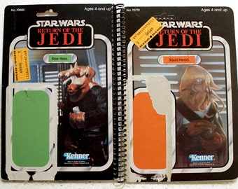 Squid Head and Ree-Yees Vintage Star Wars Return of the Jedi Notebook/Journal