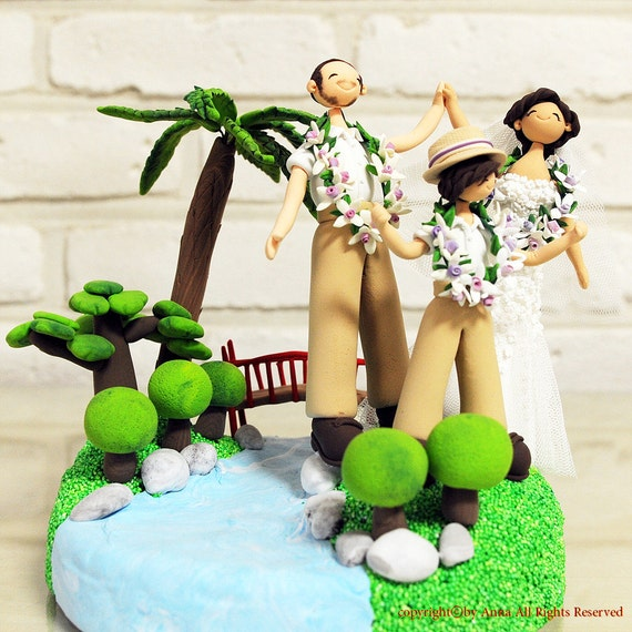 garden themed wedding cake toppers items similar to outdoor garden theme custom wedding cake 14644
