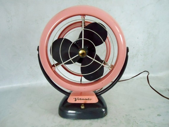 Mid Century Pink and Gray Working Vornado Fan - Vintage Original Pink Vornado Floor Fan
