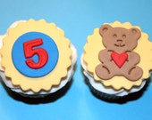 Fondant cupcake toppers Teddy Bear