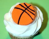 Fondant cupcake toppers mini Basketball