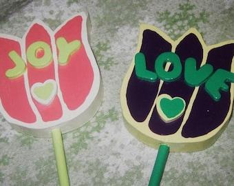 Joy Love Garden Stakes