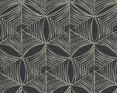 Last Piece - CURIOUS NATURE Heavyweight Home Dec Cotton Fabric - Spider Web in Tailcoat by Parson Gray (David Butler)  - 1 Yard