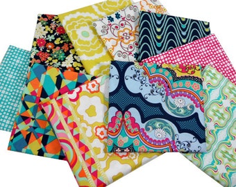 FAT QUARTER Bundle - Rad Love palette - Carnaby Street by Patricia Bravo - Art Gallery Fabrics - 10 Fat Quarters