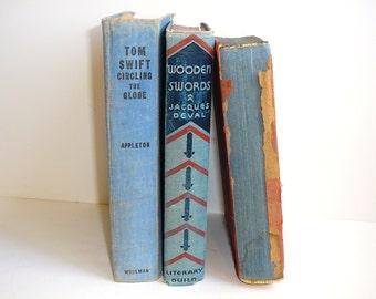 Denim Blue BOOKS Home Decor Old Books Decor