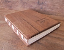 wood guest book -black walnut - custom wedding or cabin guestbook personalized rustic vacation home parent gift graduation - made to order