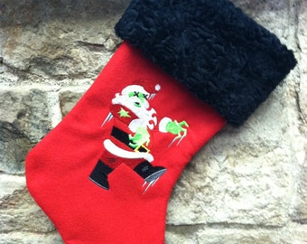 Zombie Santa Embroidered Christmas Stocking