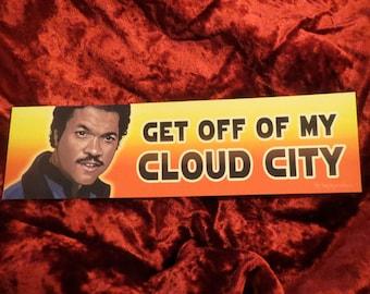 STAR WARS Lando Calrissian Cloud City Bumper Sticker