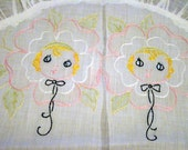 Charming Vintage Ruffled Embroidered Round Pillow Sham