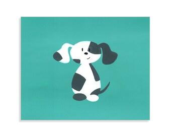 8x10 Spotted Dog Print - Boys Room Nursery Art